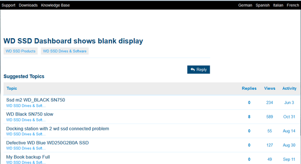 Western Digital community forums broken