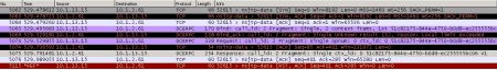 Wireshark TCP Dump of KMS Activation