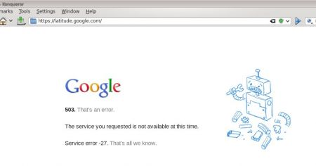 Google Latitude Server Error 503