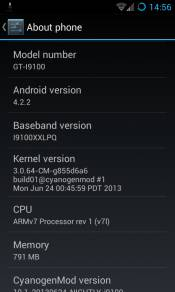 CyanogenMod 10.1 on Samsung Galaxy S2