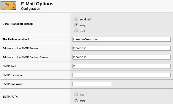 Modified ECommerce Shop E-Mail Settings