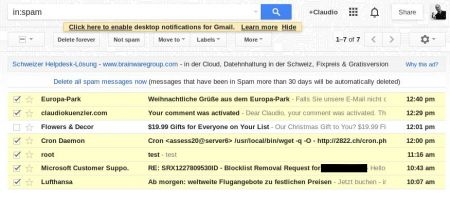 gmail tagging real mails as spam