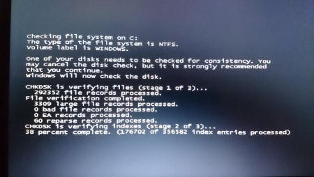 Windows 7 chkdsk