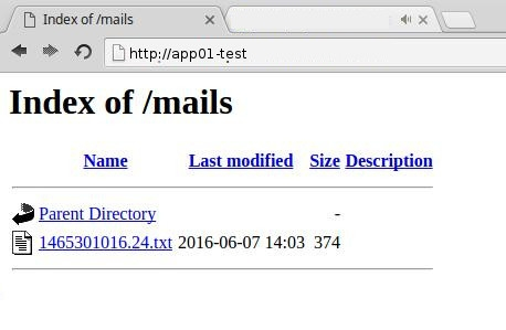 Fake dummy smtp server showing mails in browser