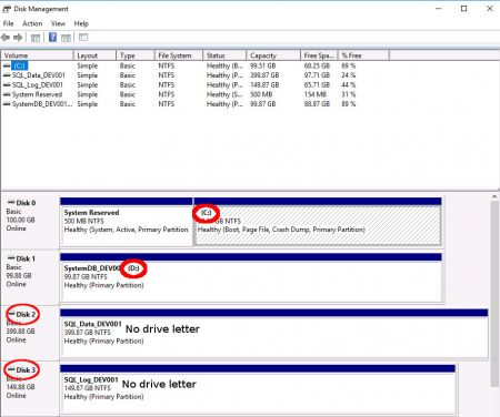 Windows Disk Management Drives without letter