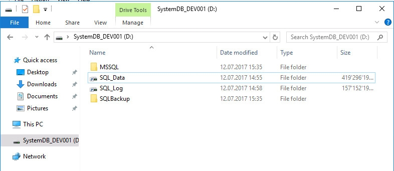 ck :: Monitor Windows disk space usage on a drive without letter