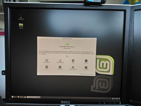 Linux Mint finished booting on software raid