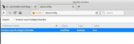 Firefox showing search field again