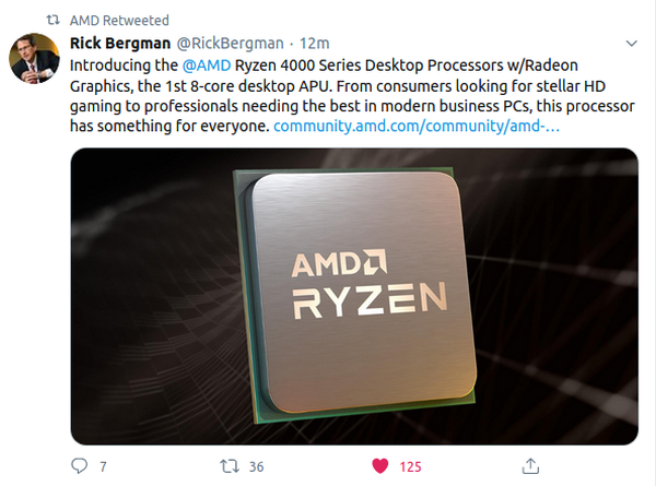 AMD Ryzen APU with integrated graphics