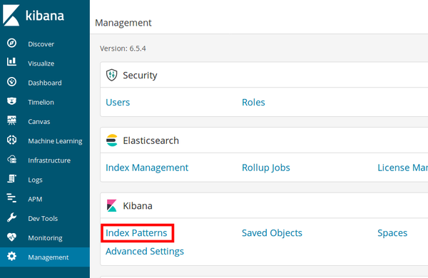 Kibana Index Patterns