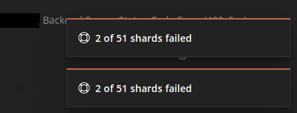 Kibana error X of Y shards failed