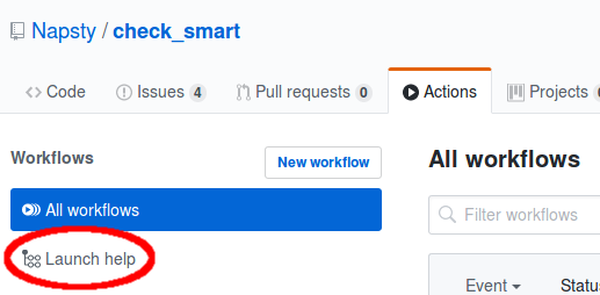 Github workflows in UI