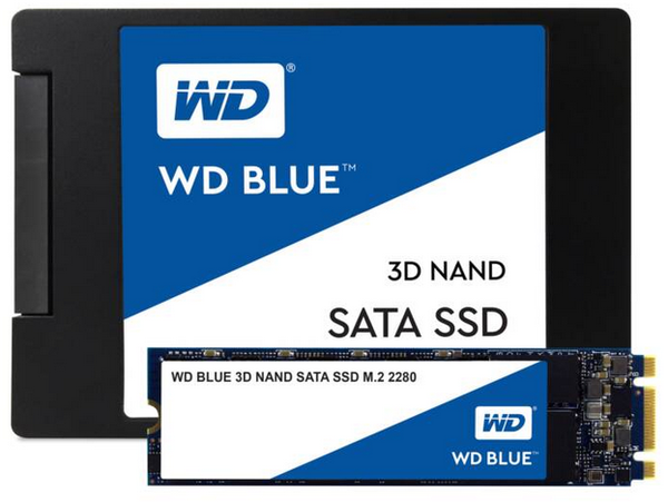 Western Digital WD Blue Solid State Drives (SATA and M2 NVME)